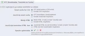 CCC-KTC beállítások bekapcsolása